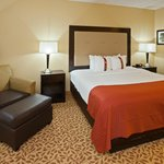 Catch a movie or order rooms service in the spacious rooms at the Holiday Inn Evansville