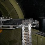 Machine gun on the Flying Fortress B 17