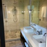 Very large bathroom with rain head shower in Andaz Large Loft Room #414
