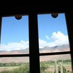Vista desde otra puerta-balcón de la cabaña N°5