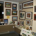 Large and small pieces of framed art for every taste.