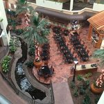 Atrium from the 4th floor. Typical setup for an Embassy Suites, complete with