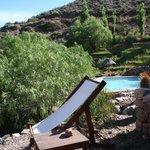 Vista desde la terraza lateral de la cabaña N°5
