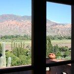 Vista desde la ventana-balcon de la cabaña N°5