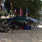 beach stalls