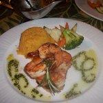 grilled shrimp diner at Jack's