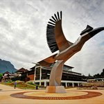 Sarawak ethnic-concept symbolized by the iconic hornbill statue