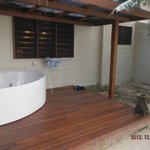 Outdoor Spa & shower