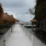 Water cottages entrance