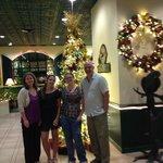 Christmas decor in lobby
