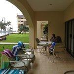 Ground level room-patio