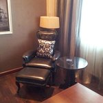 The leather wing chair