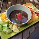 Vegan Fondue with fresh fruit