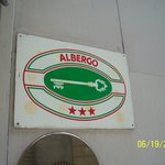 Sign saying Albergo, not a Hotel
