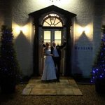The new Mr & Mrs Jeffries outside the wonderful East Close Hotel!