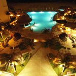 Pool at night-