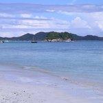 Anse Volbert : Vue sur l'ile Chauve Souris