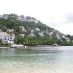 Resort view from beach