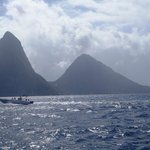 Pitons from catamaran