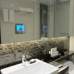 TV in the bathroom, diguised as a mirror