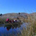 Site sur le lac Titicaca