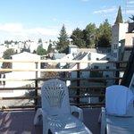 Vista desde el solarium al lado de la piscina, en el quinto piso.