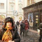Praga con nieve.