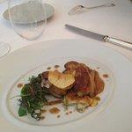 foie gras poellé gratin de cardes à la truffe
