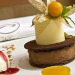 La Rotisserie restaurant - one of the desserts from the late fall a la carte menu