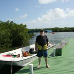 Me (Len Paddock) at the kayak dock.