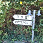 Sign outside the B&B