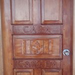 Beautiful carved doors.
