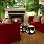 lobby area fireplace