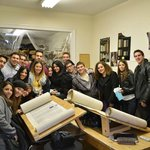 Group of College Students Tour