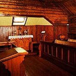 This solid wood church is an incredible must see in white horse