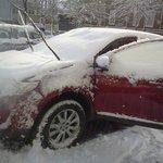 Estacionamiento del hotel (cuando nieva hay que conseguir lugar bajo techo!!)