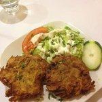 onion bhajis I ate one before I took this pic!!!!