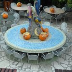 Nice area to eat food, halloween wasn't far away!