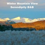 Winter Mountain View at Serendipity B&B Glenmoriston