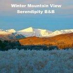 Winter Mountain View at Serendipity B&B Glenmoriston