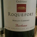 Tasty bottle of Roquefort, also goes well with cheese!