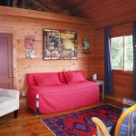 Hand-wrought paintings and genuine Persian rugs give our cottages a magical rustic glow.