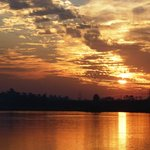 Sunset over the West Bank, Luxor, Egypt