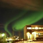 Aurora Boralis above City Hostel