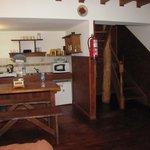 cozinha/sala no piso inferior