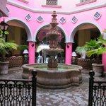 Fontaine dans le hall