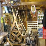 Some old machinery and tools to produce the boots.