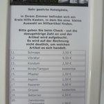 """Preisliste vom """"Erste Hilfe Kasten"""""""