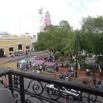 "View of the main square (""zocalo"") from balcony of private room #22"