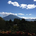 View from my room at Vulcano Lodge!